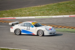 Porsche 911 GT3 kopp ( Typ 996) på Monza Arkivfoto