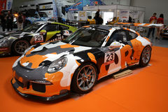 Porsche 911 GT3 montrés à la 3ème édition de l'EXPOSITION de MOTO à Cracovie Photographie stock libre de droits