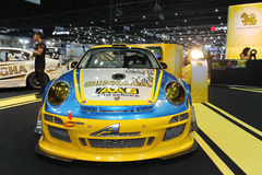 Porsche 997 GT3R display in Thailand International Motor Expo 2013 Royalty Free Stock Images
