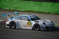 Porsche 997 GT3 R på Monza Royaltyfria Foton