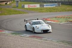 Porsche 911 GT3 R på Monza Royaltyfria Foton