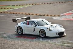 Porsche 911 GT3 R på Monza Royaltyfri Fotografi