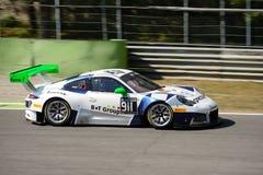 Porsche 911 GT3 R przy Monza obwodem Obraz Royalty Free