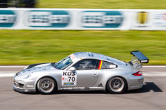 Porsche 911 GT3 raceauto Royalty-vrije Stock Afbeeldingen