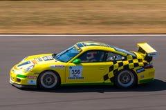 Porsche 911 GT3 raceauto Royalty-vrije Stock Foto's