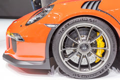 2015 Porsche 911 GT3 RS. Geneva, Switzerland - March 4, 2015: 2015 Porsche 911 GT3 RS presented on the 85th International Geneva Motor Show Stock Photography