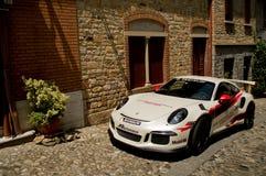 Porsche 911 GT3 RS i Castell ` Arquato Royaltyfri Bild