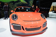 Porsche 911 GT3 RS, Motor Show Geneva 2015. Royalty Free Stock Images