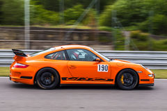 Porsche 911 GT3 RS. Track day car photographed during KSA event at Automotodrom Brno, Czech Republic on May 3, 2014 Stock Image