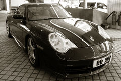 Porsche 911 GT3 sportów samochód parkujący Zdjęcie Royalty Free