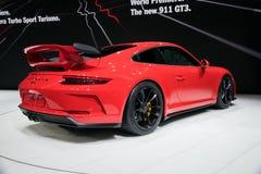 2018 Porsche 911 GT3 sportwagen Stock Foto's