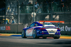 Porsche GT3 tävlings- bil Arkivfoton