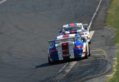 Porsche GT3 tävlings- bilar Royaltyfria Bilder