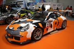 Porsche 911 GT3 wystawiający przy 3rd wydaniem MOTO przedstawienie w Krakowskim fotografia royalty free