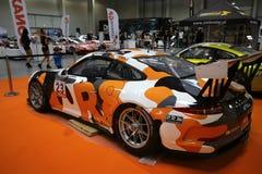 Porsche 911 GT3 wystawiający przy 3rd wydaniem MOTO przedstawienie w Krakowskim Polska zdjęcie stock