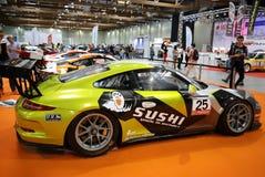 Porsche 911 GT3 wystawiający przy 3rd wydaniem MOTO przedstawienie w Krakowskim Polska obraz stock