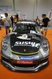 Porsche 911 GT3 wystawiający przy 3rd wydaniem MOTO przedstawienie w Krakowskim Polska obraz royalty free