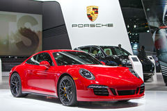Porsche 911 GTS 2015 Detroit Auto Show Royalty Free Stock Photos