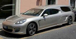 Porsche hearse. Stretched Porsche as a hearse Stock Image