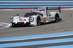 Porsche 919 on High Tech Test Track Royalty Free Stock Images