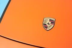 Porsche huvemblem Arkivfoton