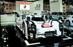Porsche 919 hybrid, a sports-prototype racing car Stock Photography