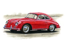 Porsche 356 Royalty Free Stock Image