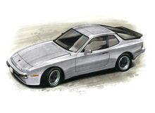 Porsche 944 Royalty Free Stock Images