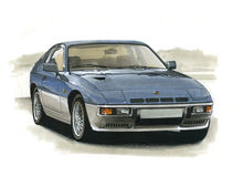 Porsche 924 Royalty Free Stock Images