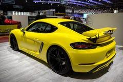 Porsche 718 kajmanu S Techart sportów samochód Fotografia Stock