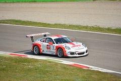 Porsche 911 kopp GT3 på Monza Royaltyfria Foton