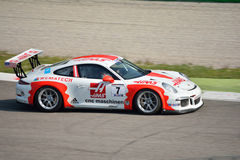 Porsche 911 kopp GT3 på Monza Royaltyfria Bilder