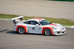 Porsche 911 kopp GT3 på Monza Arkivbild