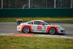 Porsche 911 kopp GT3 på Monza Royaltyfri Fotografi