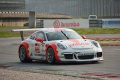 Porsche 911 kopp GT3 på Monza Royaltyfri Foto