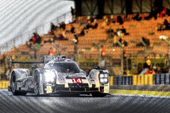 Porsche 919 at Le Mans. Porsche 919 racing in the Le Mans 24hr race Stock Image