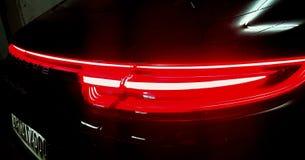 Porsche lights. Amazing taillights Porsche panamera stock photos