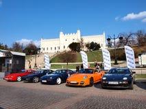 Porsche lockert Vereinbarung 2012 auf Lizenzfreies Stockfoto