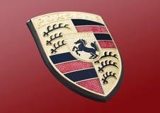 Porsche logo arkivbild