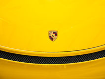 Porsche logo close up. Stock Photography