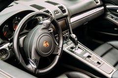 Porsche Luxury Sports Car Interior Stock Photos