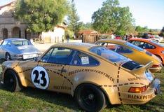 Porsche múltiple en campo Imagen de archivo libre de regalías