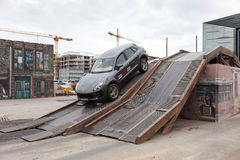 Porsche Macan ai parcours fuori strada Fotografie Stock