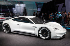Porsche Mission E Concept at the IAA 2015 Stock Image