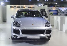 Porsche motorowy samochód przy Bangkok Międzynarodową Uroczystą Motorową sprzedażą 2015 Obraz Royalty Free