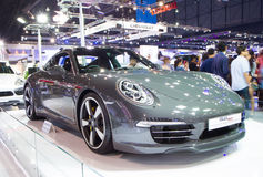 Porsche 911 Na Tajlandia zawody międzynarodowi silnika expo Obrazy Stock
