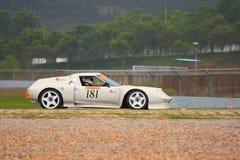 Porsche nella sfida leggera di Sportscar Immagine Stock Libera da Diritti