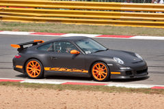 Porsche nera fotografia stock libera da diritti
