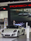 Porsche new models presented in Motor Show Royalty Free Stock Photos