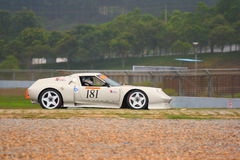 Porsche no desafio de pouco peso de Sportscar Imagem de Stock Royalty Free